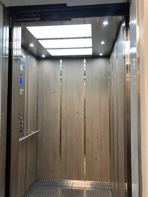 Diamond Home Elevator - Los Angeles Elevator Panel With Steel Flooring