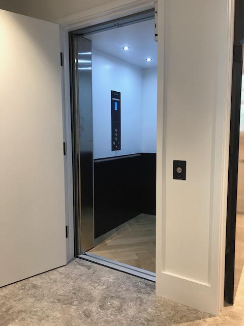San Francisco Savaria Elevator Black & White Interior Door Open