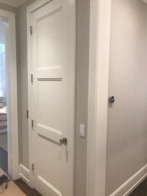 Diamond Home Elevator - San Francisco Elevator White With Dark Flooring Door Closed