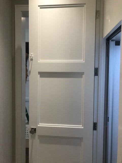 Diamond Home Elevator - San Francisco Elevator White With Dark Flooring Door Open