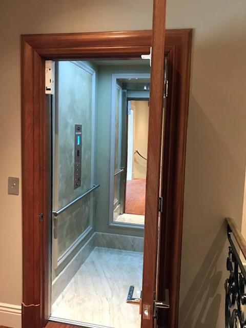 Home Elevator in San Francisco - Marble Interior Door Open