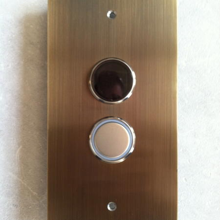 Oil Rubbed Bronze Square Hall Call