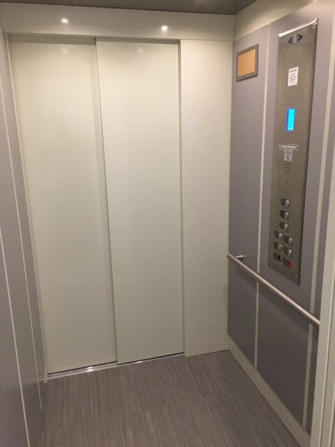 LULA Commercial Elevator - Interior Silver Panel