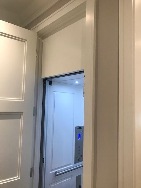Savaria Eclipse Home Elevator in Los Angeles - Raised White Panel Cab