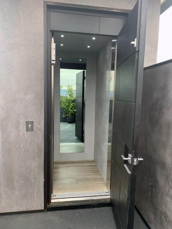 Los Angeles Home Elevator - Roof Entrance Door Open