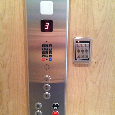 Raised Stainless Steel with Keypad Lockout