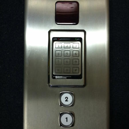 Stainless Steel with Keypad Up Close