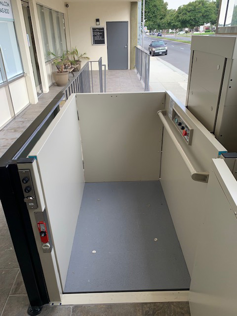 Outdoor Wheelchair Lift - Open